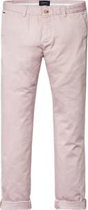 Różowe spodnie Scotch & Soda w stylu casual