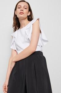Bluzka Reserved z okrągłym dekoltem z krótkim rękawem