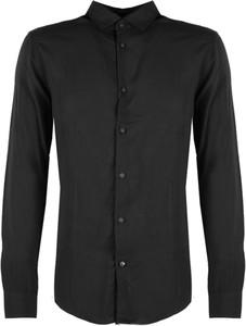 Czarna koszula Armani Exchange w stylu casual z długim rękawem z klasycznym kołnierzykiem