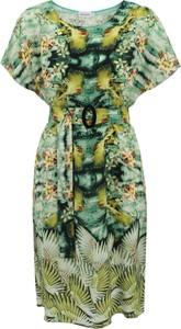 Zielona sukienka Premiera Dona z krótkim rękawem