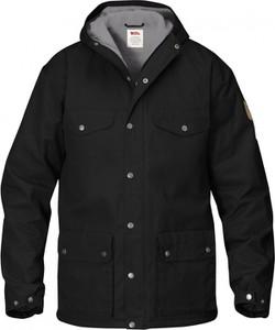 Czarna kurtka Fjällräven z bawełny