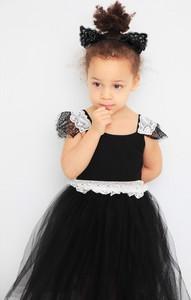 Czarna sukienka dziewczęca Anima By Justyna Steczkowska