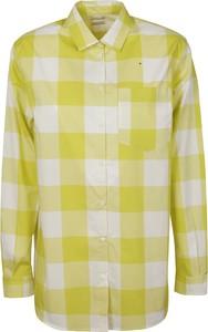 Żółta koszula Massimo Alba z długim rękawem