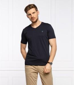 Czarny t-shirt Marc O'Polo z krótkim rękawem w stylu casual