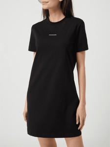 Czarna sukienka Calvin Klein z krótkim rękawem koszulowa
