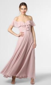 Różowa sukienka Laona z krótkim rękawem