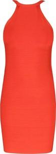 Sukienka Guess by Marciano bez rękawów z dekoltem halter midi
