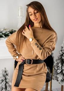 Sukienka Fason mini z długim rękawem