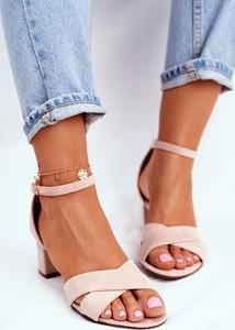 Sandały Fw1 z klamrami z zamszu