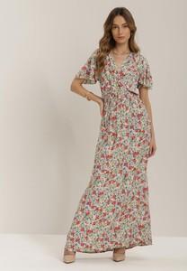Sukienka Renee maxi z krótkim rękawem w stylu boho