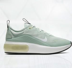 Miętowe buty sportowe Nike sznurowane
