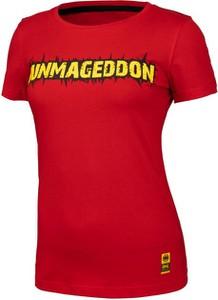 Czerwony t-shirt Pit Bull z bawełny
