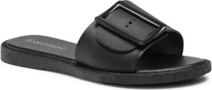 Czarne klapki BASSANO w stylu casual