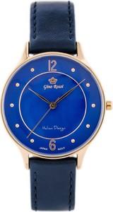 ZEGAREK DAMSKI GINO ROSSI - 10317A (zg735f) + BOX - Niebieski    Różowe złoto