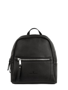 Czarny plecak Tom Tailor ze skóry ekologicznej