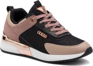 Sneakersy Guess sznurowane ze skóry ekologicznej