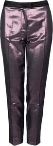 Czerwone spodnie ubierzsie.com z tkaniny