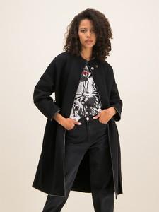 Czarny płaszcz Pinko w stylu casual