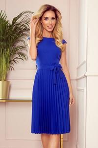 Niebieska sukienka Merg z krótkim rękawem