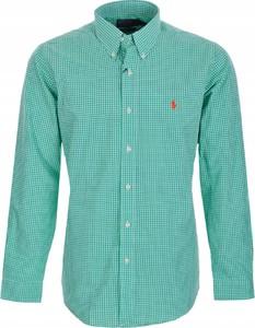 Zielona koszula Ralph Lauren w stylu casual z bawełny z długim rękawem