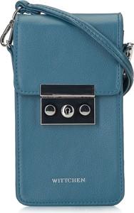 Niebieska torebka Wittchen na ramię średnia