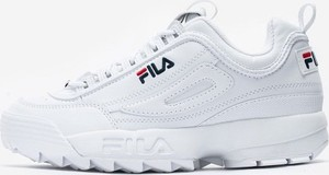 Buty sportowe Fila ze skóry sznurowane