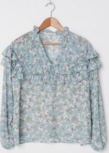 Miętowa bluzka House z dekoltem w kształcie litery v
