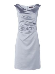 Sukienka Vera Mont z satyny bez rękawów
