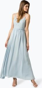 Niebieska sukienka Vila rozkloszowana z dekoltem w kształcie litery v bez rękawów