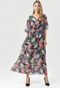 Sukienka born2be maxi z krótkim rękawem w stylu casual