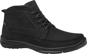 Czarne buty zimowe Badura