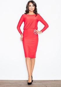 Czerwona sukienka Figl midi oversize