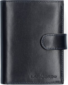 Granatowy portfel męski LANCERTO