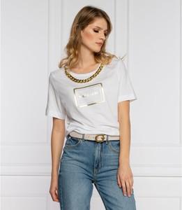 T-shirt Guess by Marciano z okrągłym dekoltem z bawełny z krótkim rękawem