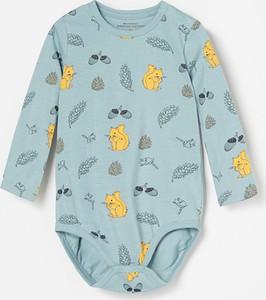 Niebieskie body niemowlęce Reserved z bawełny