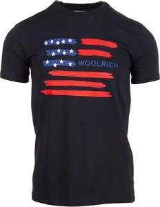 Granatowa koszulka dziecięca Woolrich