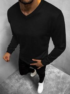Czarny sweter BRUNO LEONI z dzianiny
