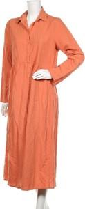 Sukienka Defacto z długim rękawem z dekoltem w kształcie litery v midi