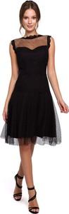 Sukienka Merg z okrągłym dekoltem bez rękawów midi