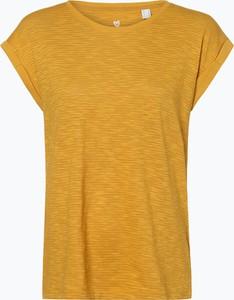 T-shirt Esprit z krótkim rękawem z bawełny z okrągłym dekoltem