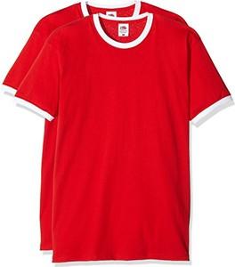 Czerwony t-shirt Fruit Of The Loom