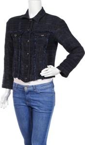 Granatowa kurtka Sisley krótka w stylu casual
