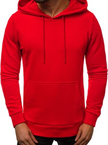 Czerwona bluza Ozonee z bawełny