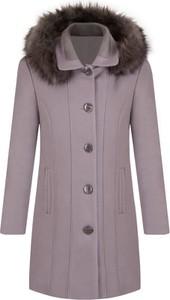 ab998ee3d8f18 płaszcz z futrzanym kołnierzem zara - stylowo i modnie z Allani