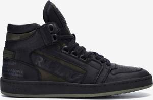 Czarne buty sportowe Replay ze skóry sznurowane