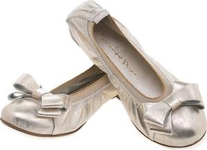 Złote baleriny Lafemmeshoes