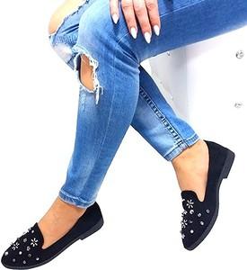 Baleriny Ideal Shoes z płaską podeszwą w stylu casual