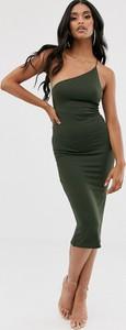 Zielona sukienka Asos Design midi na ramiączkach