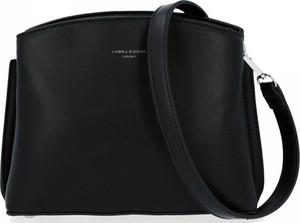 Czarna torebka David Jones na ramię ze skóry ekologicznej w stylu glamour