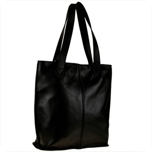 Czarna torebka Vera Pelle na ramię ze skóry duża